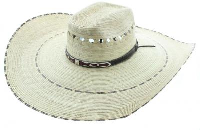 Speedy 8 Seconds palm leaf wide brim sombrero